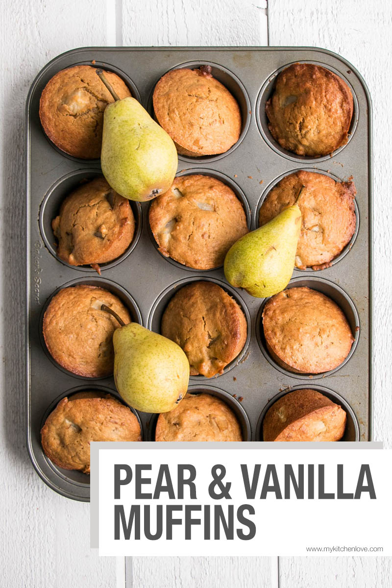 Pear and Vanilla Muffins Short Pin