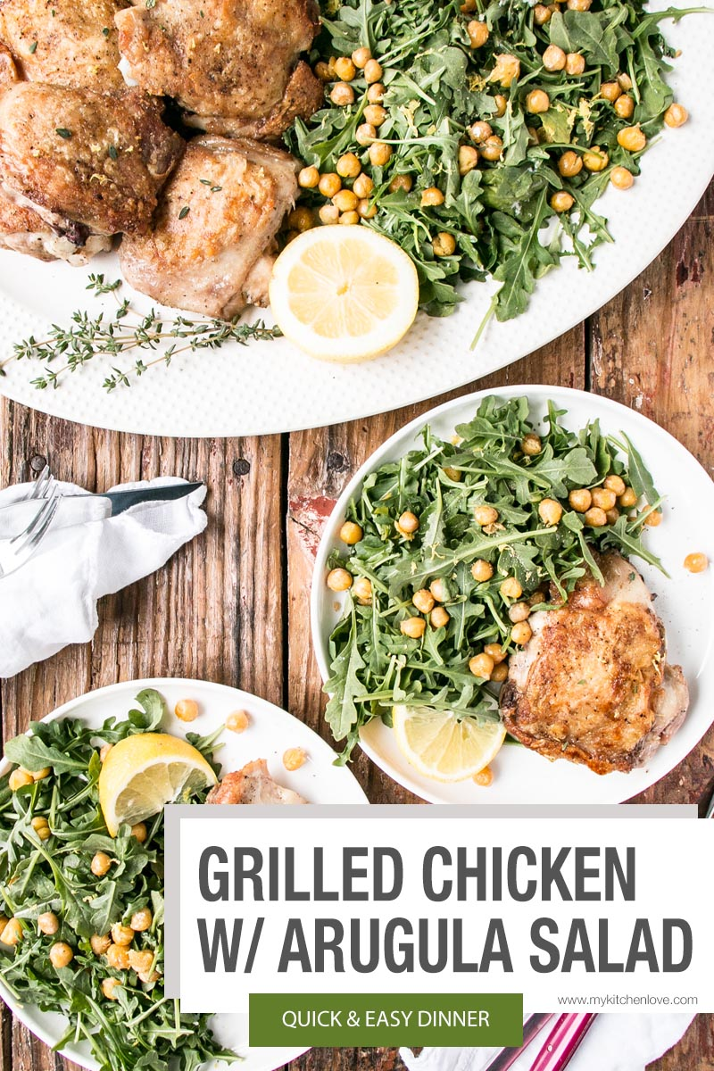 Grilled Chicken and Arugula Short Pin