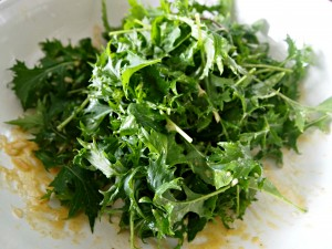 My kitchen love - spicy greens and dressing
