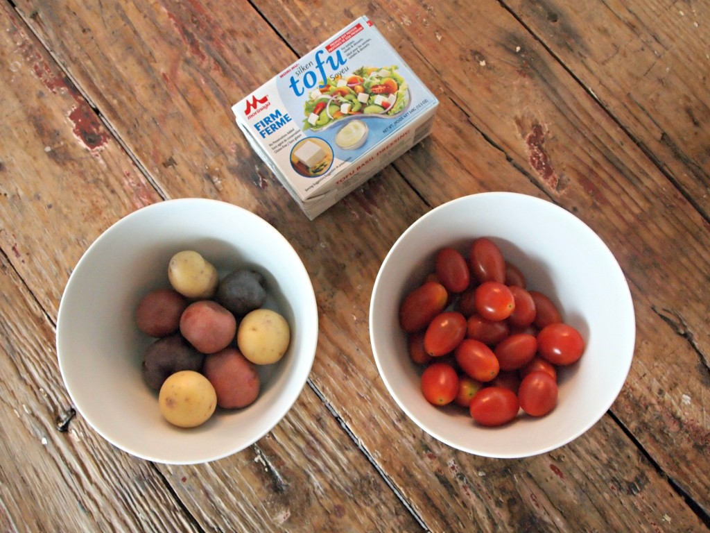 Mini #3:  Curried Tofu, Potatoes, and Tomatoes