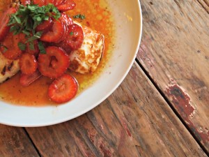 My Kitchen Love Blog - Grilled Halloumi with Strawberries and Herbs