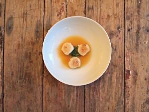 My Kitchen Love Blog - Scallops in Tomato Water