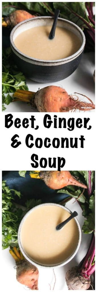 Beet, Ginger, and Coconut Milk Soup | My Kitchen Love