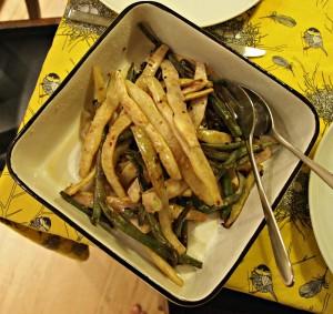 My Kitchen Love Blog - Garlicky Runner Beans