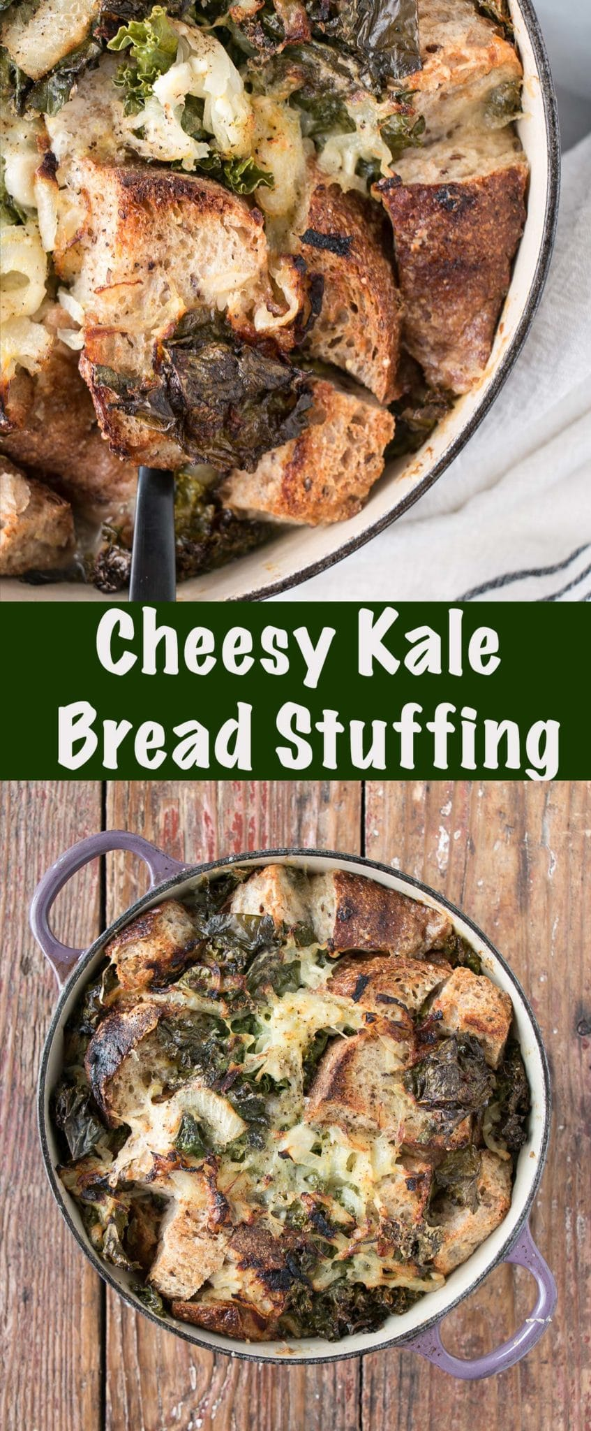 Cheesy Kale Stuffing Long Pin