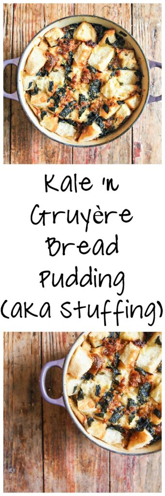 Kale & Gruyere Bread Pudding (Stuffing) | My Kitchen Love