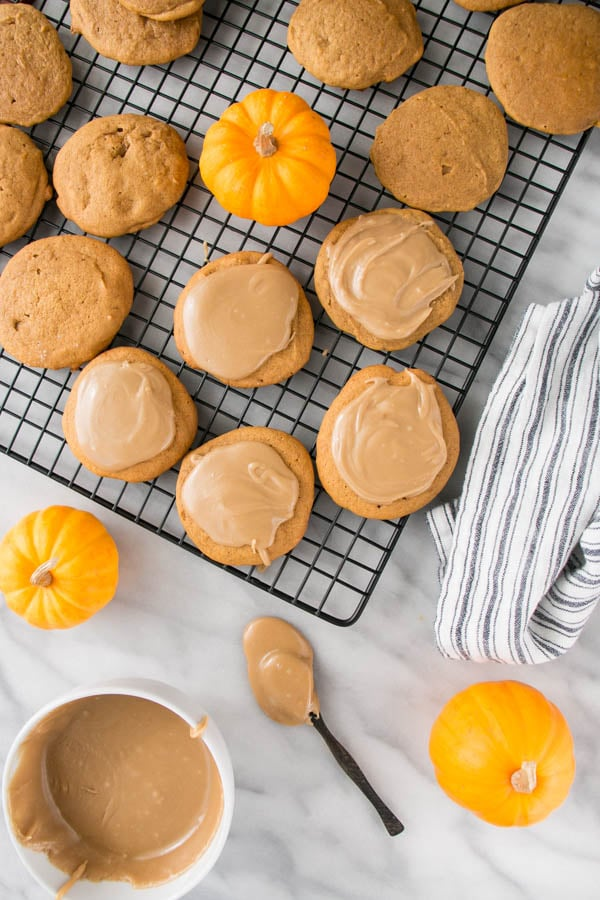 Maple Glazed Pumpkin Spice Cookies - My Kitchen Love