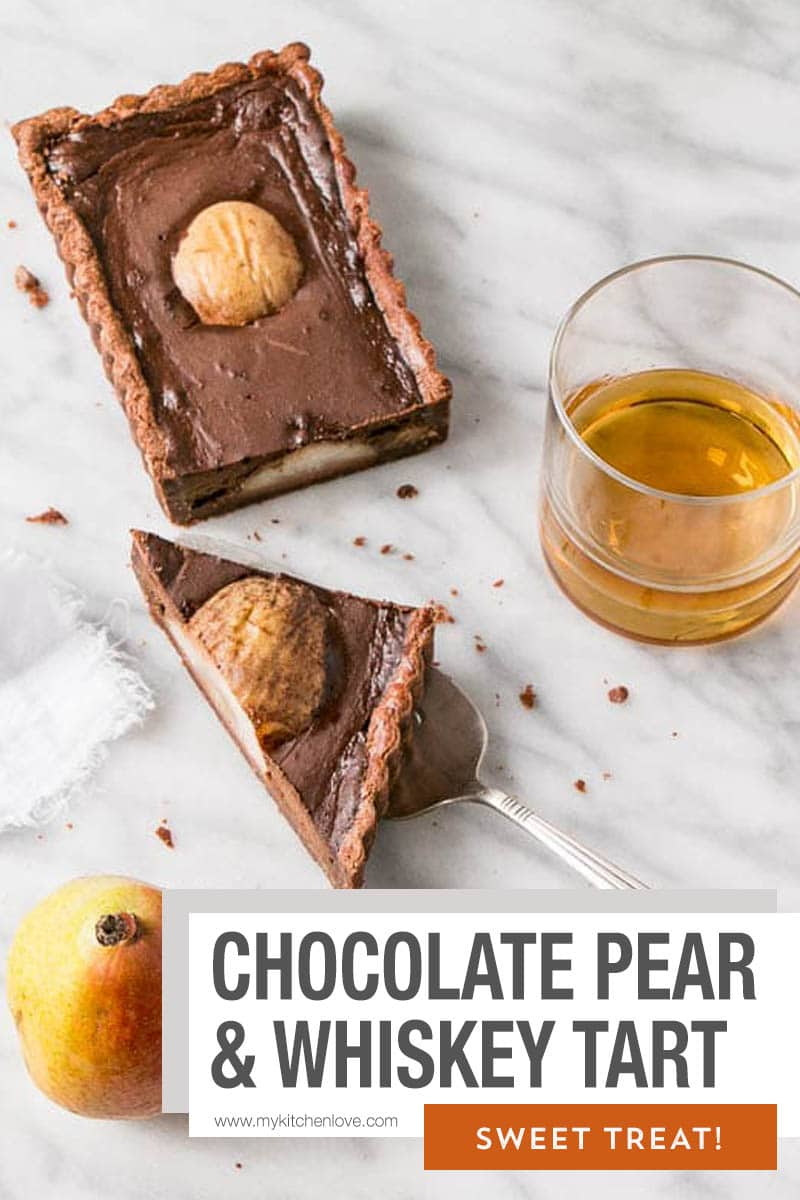 Chocolate Pear & Whiskey Tart Short Pin