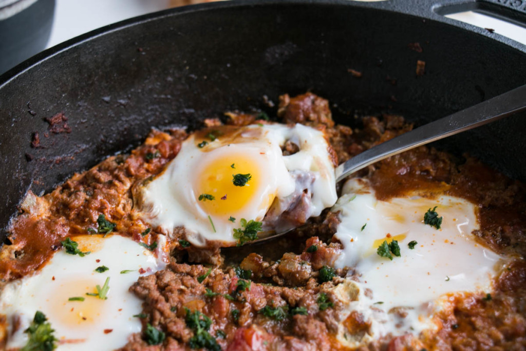 Iraqi Eggs with Lamb and Tomatoes | My Kitchen Love