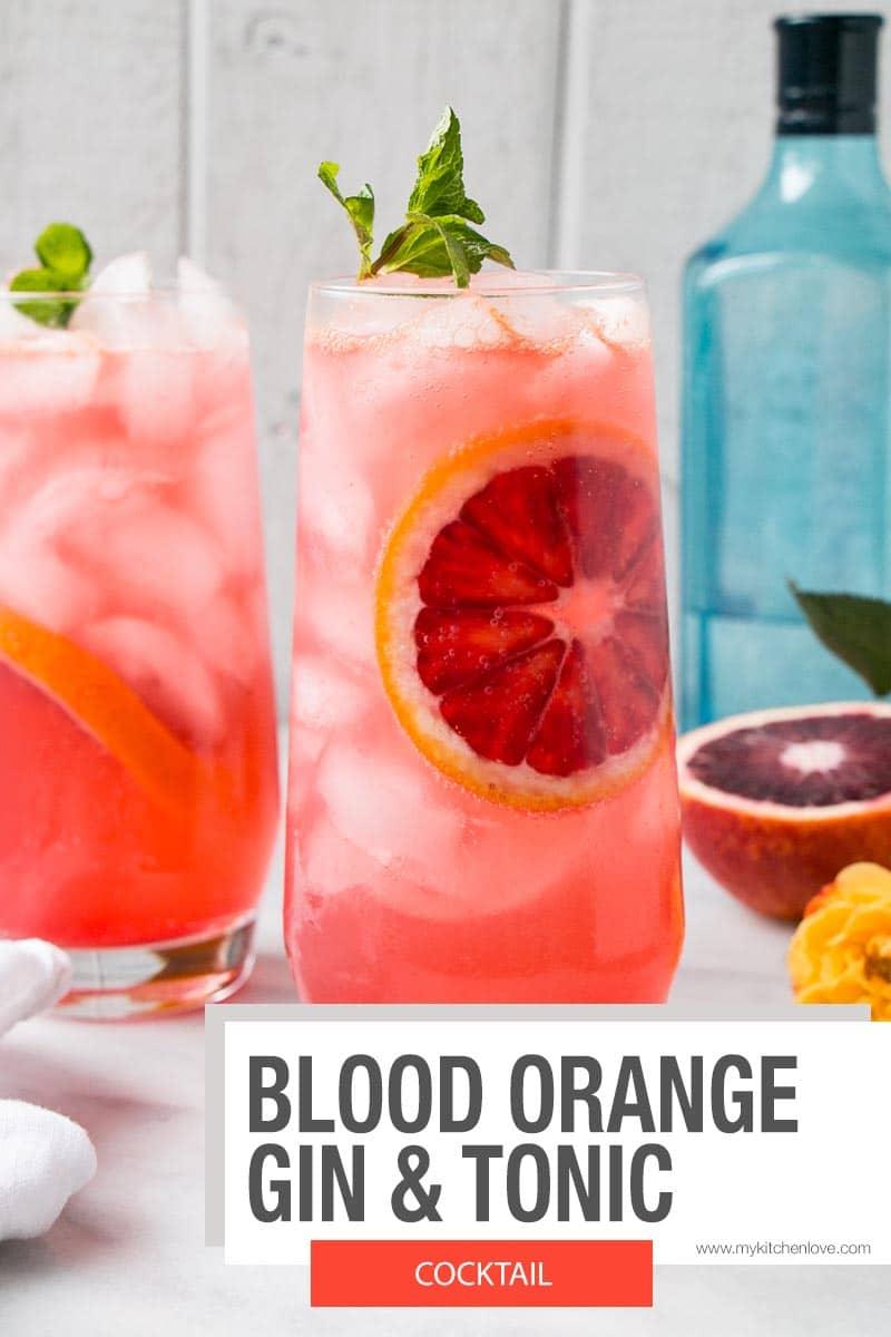Blood Orange Gin and Tonic - short pin