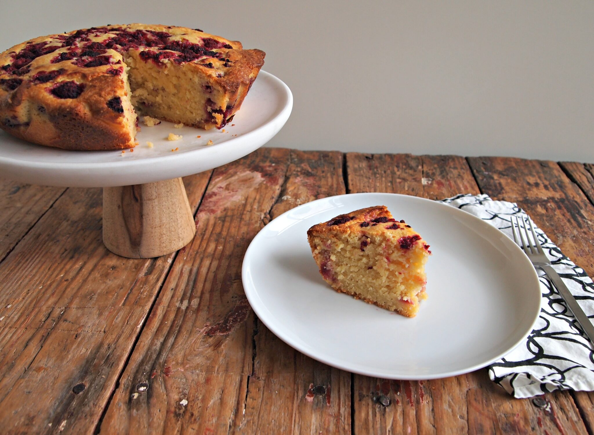 My Kitchen Love Blog - Lemon Raspberry Ricotta Cake