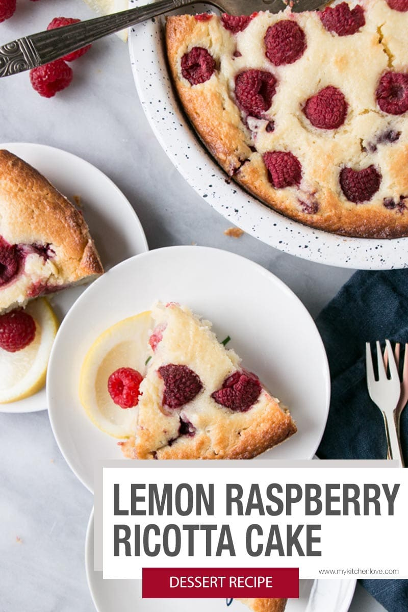Lemon Raspberry Ricotta Cake Short Pin