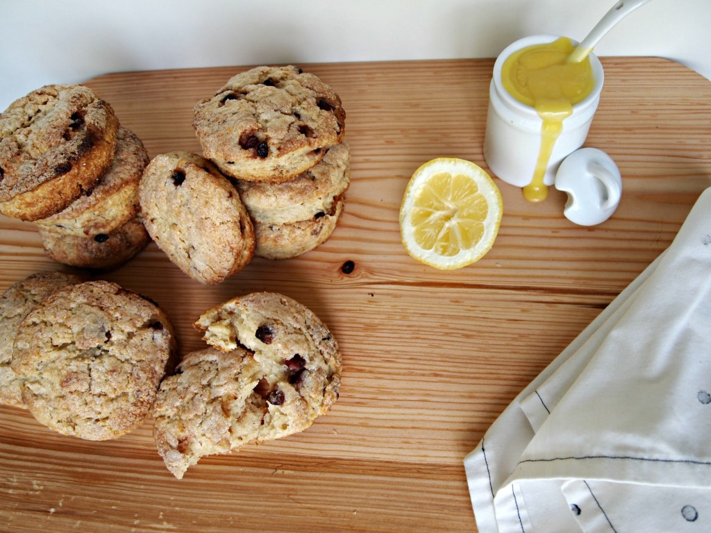 Pomegranate and Lemon Scones with Lemon Cream
