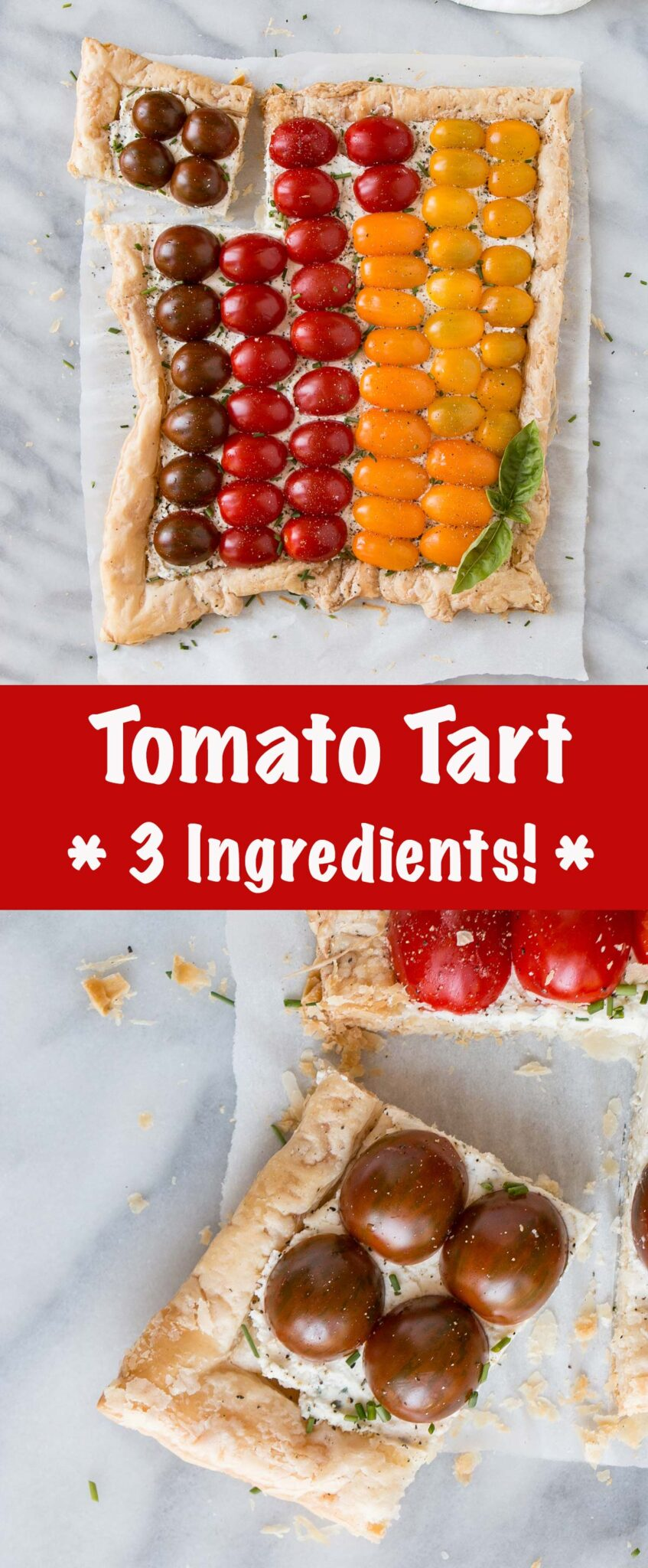 Tomato Tart long collage