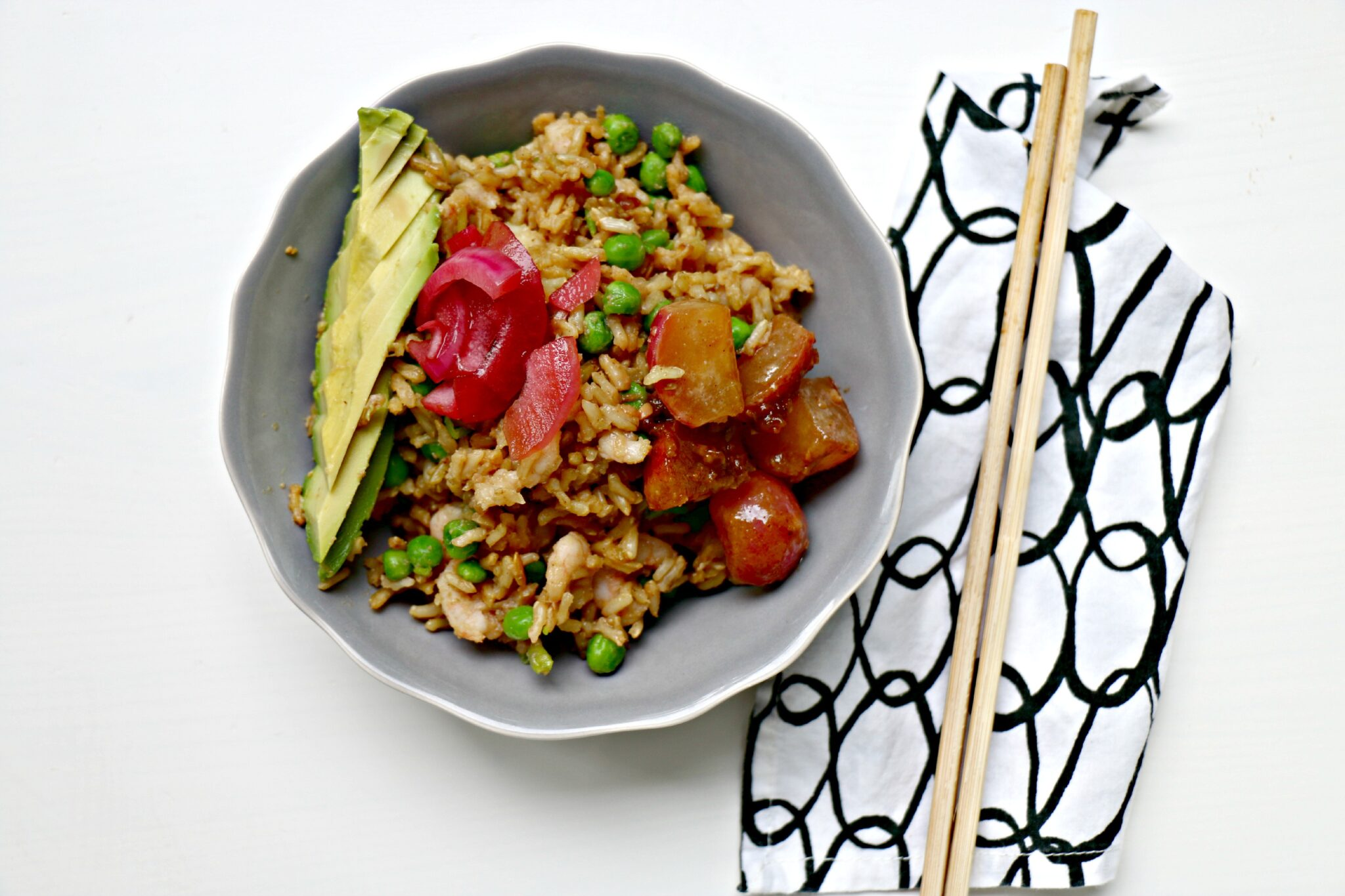 Dashi Fried Rice with Shrimp and Miso-Butter Radishes