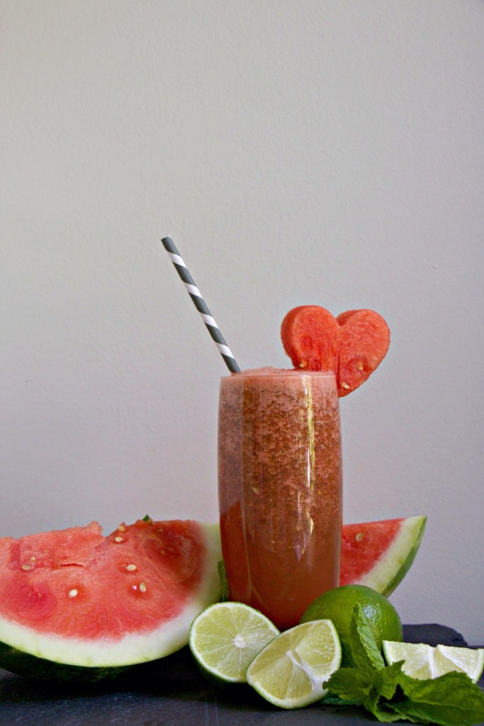 Watermelon Lime Mint Smoothie