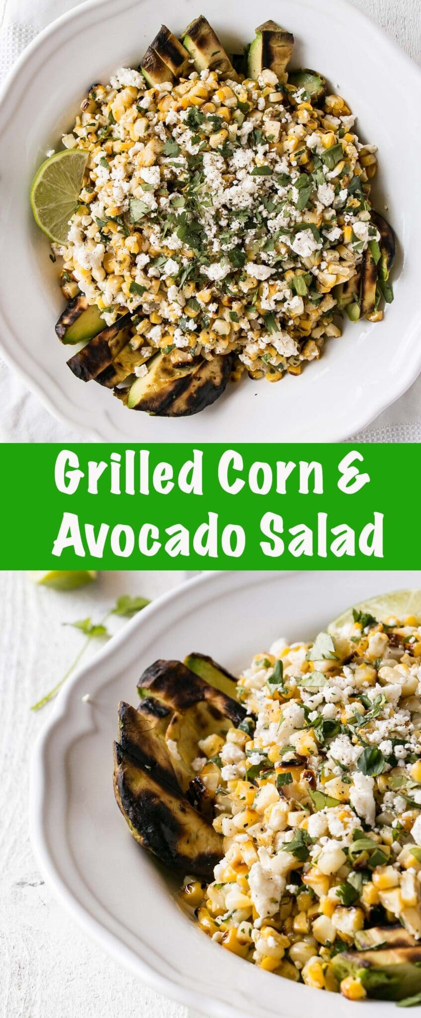 Grilled Corn and Avocado Salad long collage