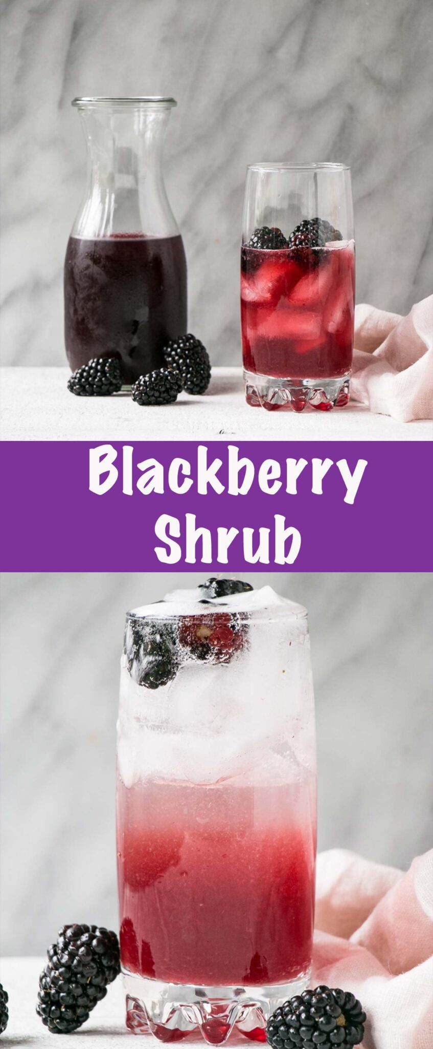 Blackberry Shrub Long Pin