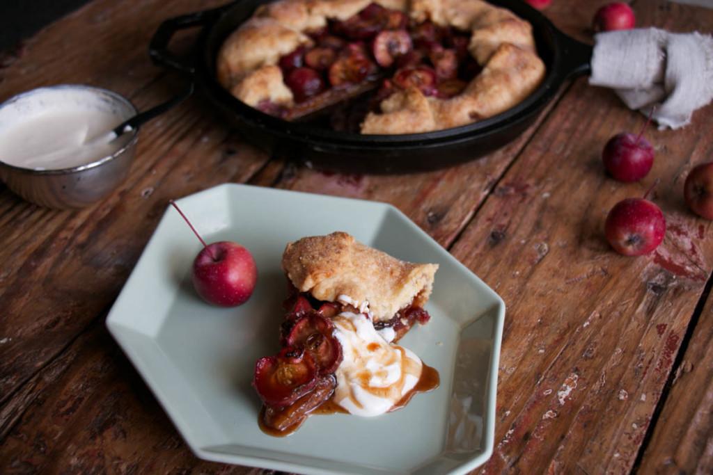 Caramel Crap Apple Galette - My Kitchen Love