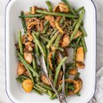 Green Beans and Halloumi Salad with Roasted Lemons and Shallots