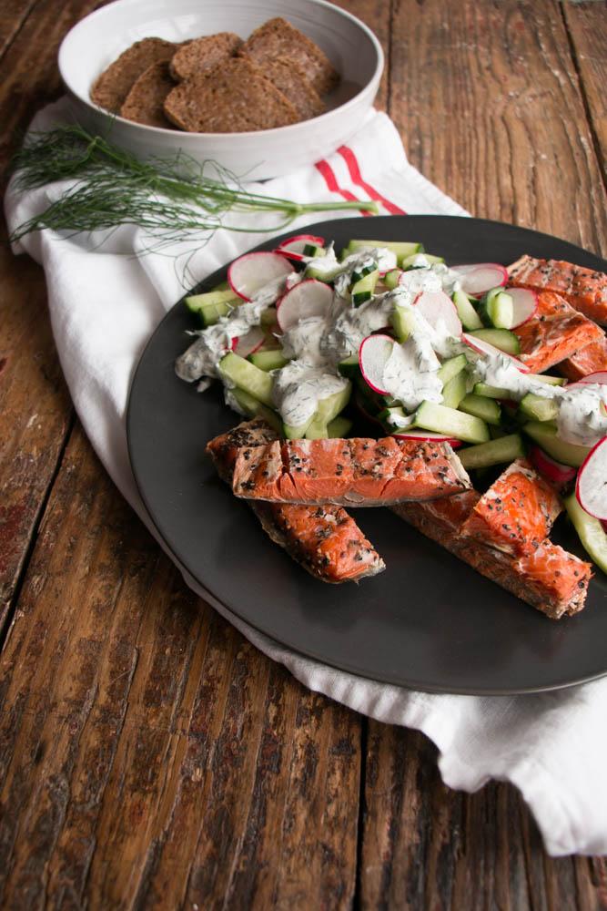 Smoked Salmon Salad - My Kitchen Love