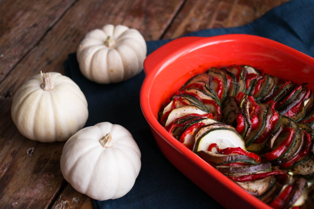 EASY Baked Ratatouille. Perfect for Fall!