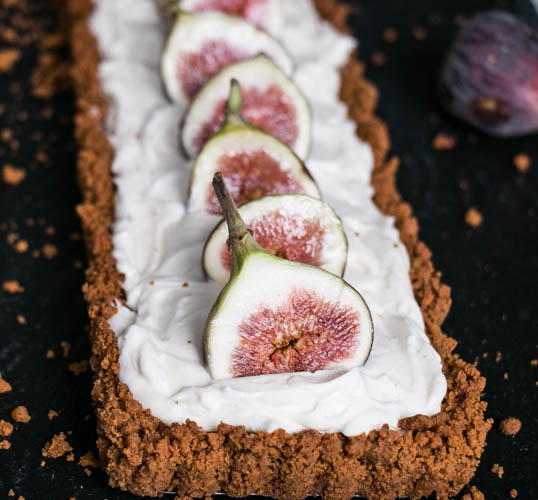Fig and Mascarpone Tart with a Gingersnap Crust
