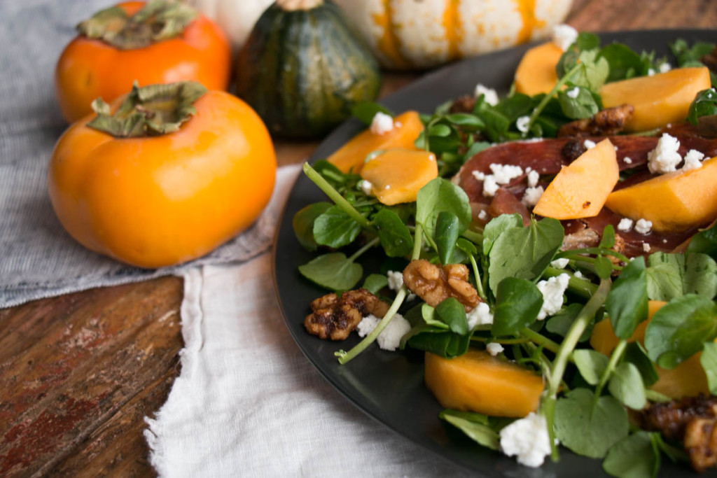 Persimmon and Watercress Salad | My Kitchen Love