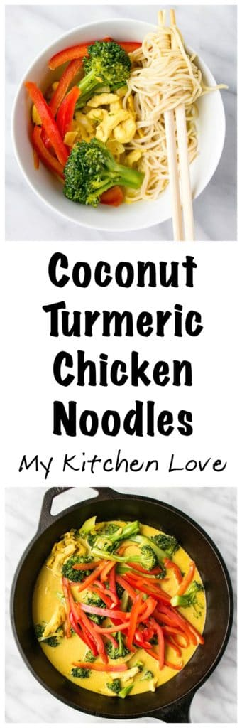 Turmeric Coconut Noodle Bowl | My Kitchen Love