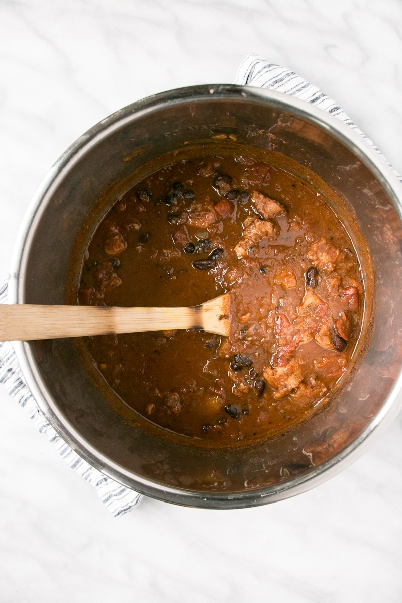 Chipotle Turkey Chili in Instant Pot