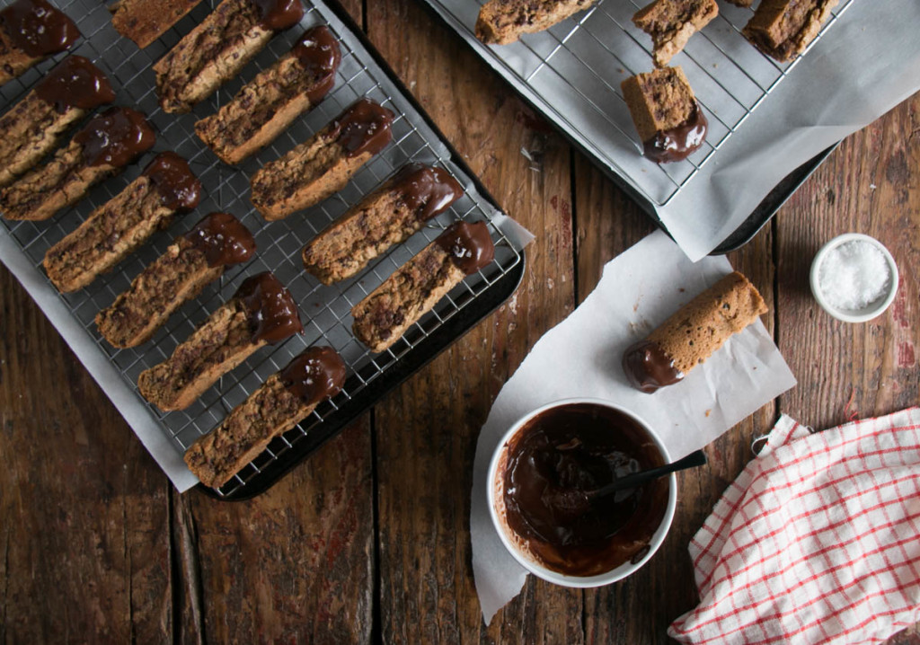 Salted Chocolate and Toffee Cookie Sticks | My Kitchen Love