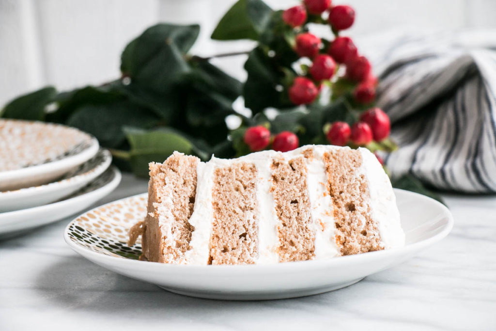 Spiced Apple Cider Cake with Frosted Cranberries | My Kitchen Love