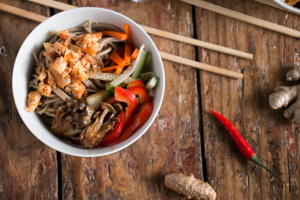 Spicy Crunchy Tofu with Soba Noodles | My Kitchen Love