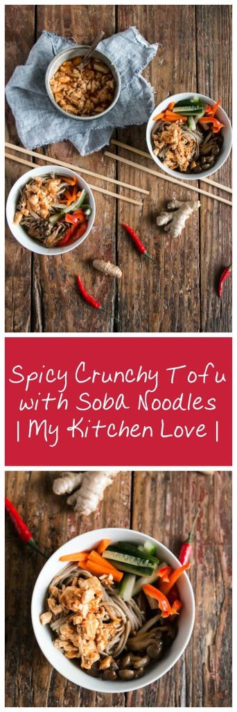 Spicy Crunchy Tofu with Soba Noodles My kitchen Love Totally yum tofu!