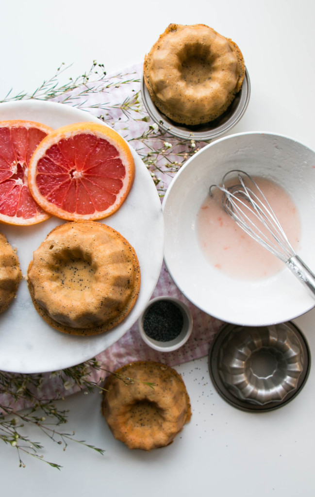 Mini Grapefruit Bundt Cakes | My Kitchen Love