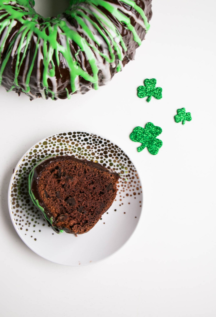 Chocolate Mint Chip Bundt Cake | My Kitchen Love
