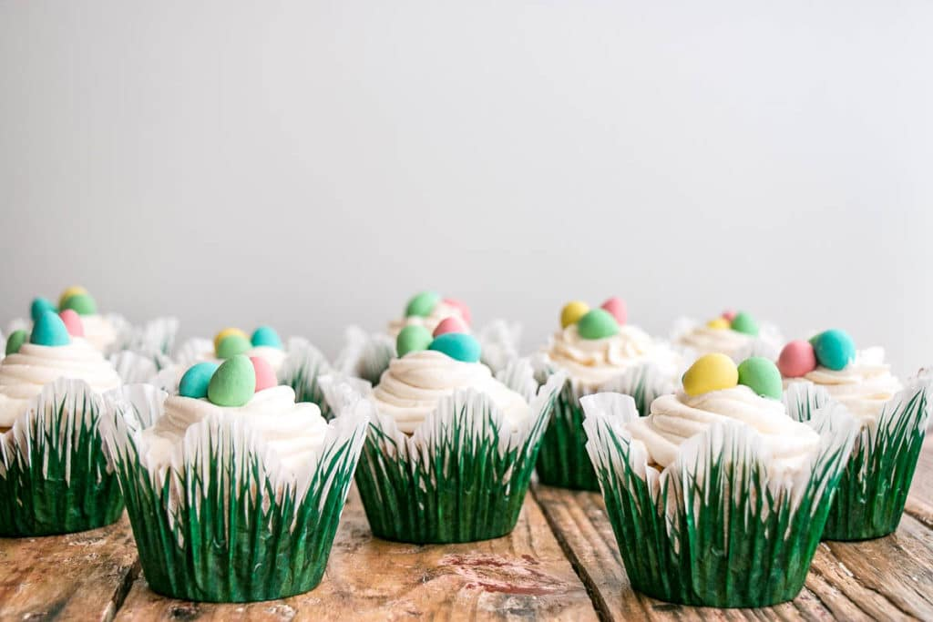 Easter Cupcakes (Best Vanilla Cupcake Recipe) | My Kitchen Love
