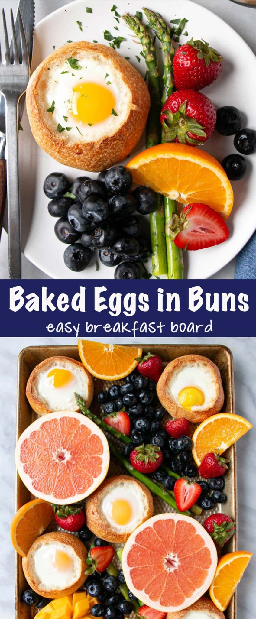 Baked Eggs in Buns Long Pin