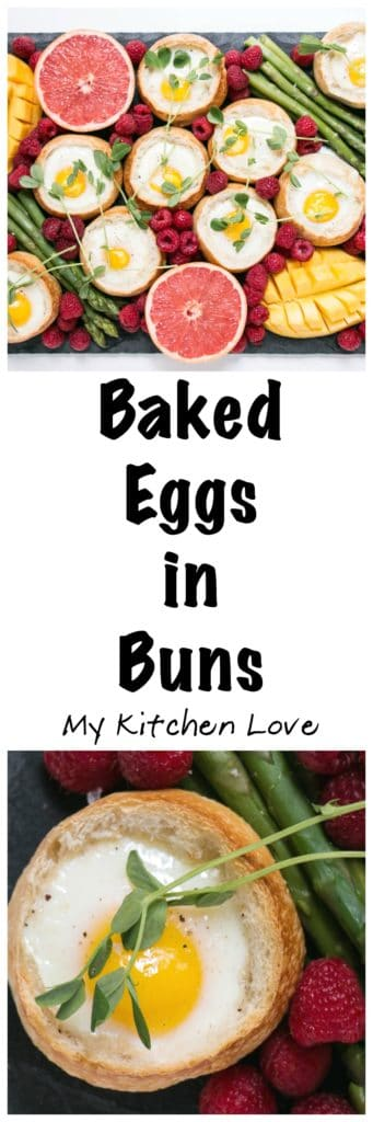 Baked Eggs in Buns | My Kitchen Love