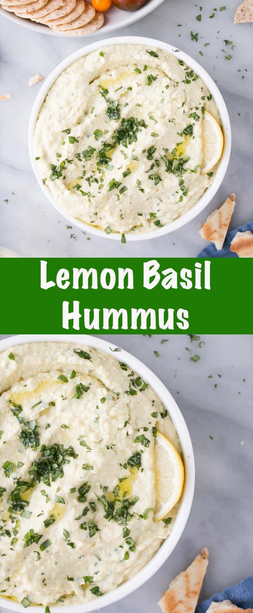 Lemon Basil Hummus Long Pin