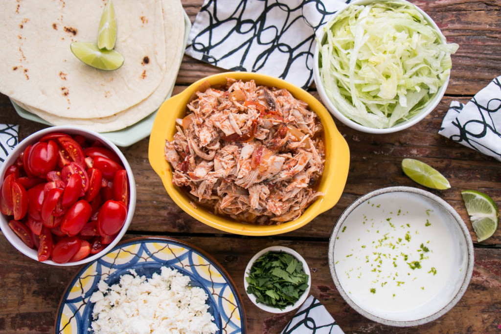 Slow Cooker Chicken Tanga Tacos | MY Kitchen Love