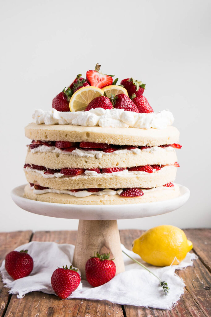 Strawberry Shortcake with Lavender Lemon Cream
