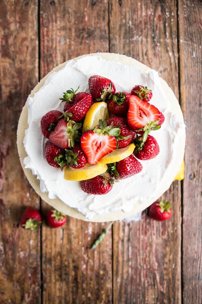 Strawberry Shortcake with Lavender Lemon Cream | My Kitchen Love
