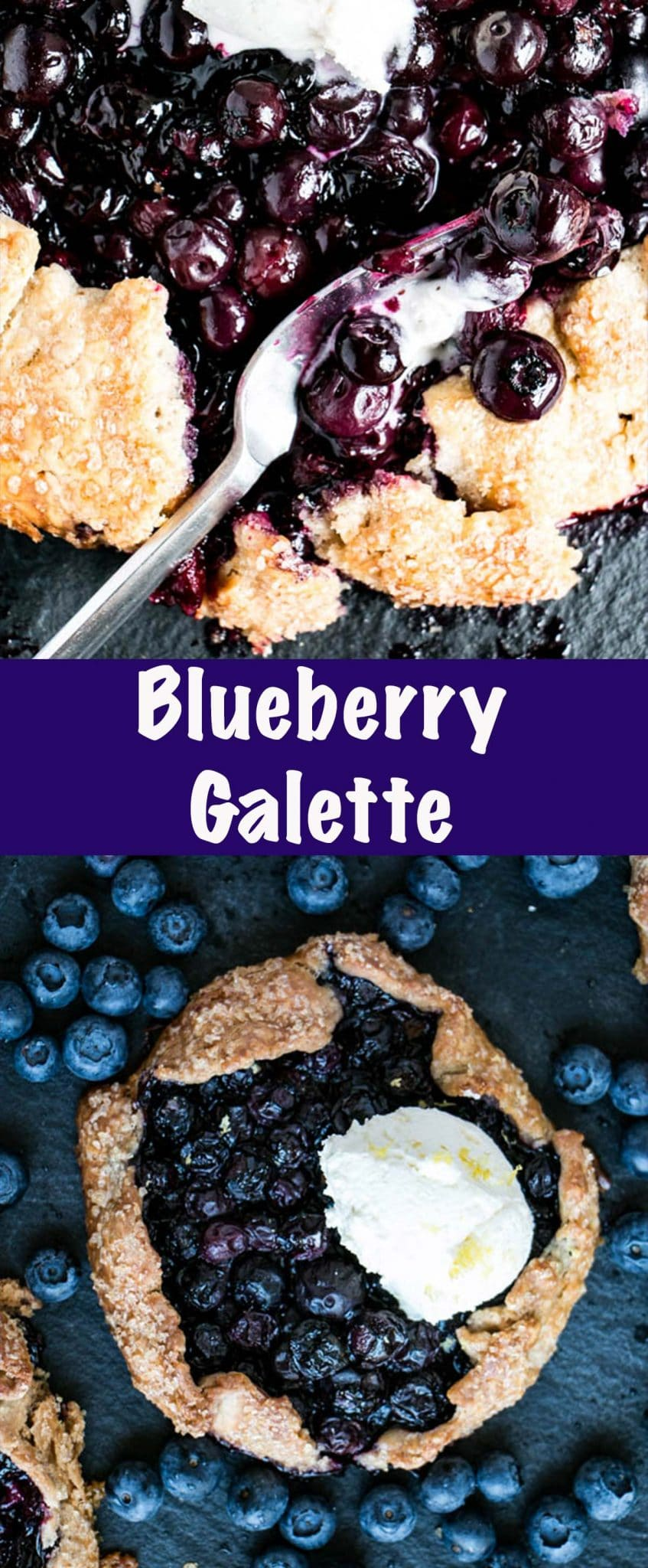 Blueberry Galette Long Pin