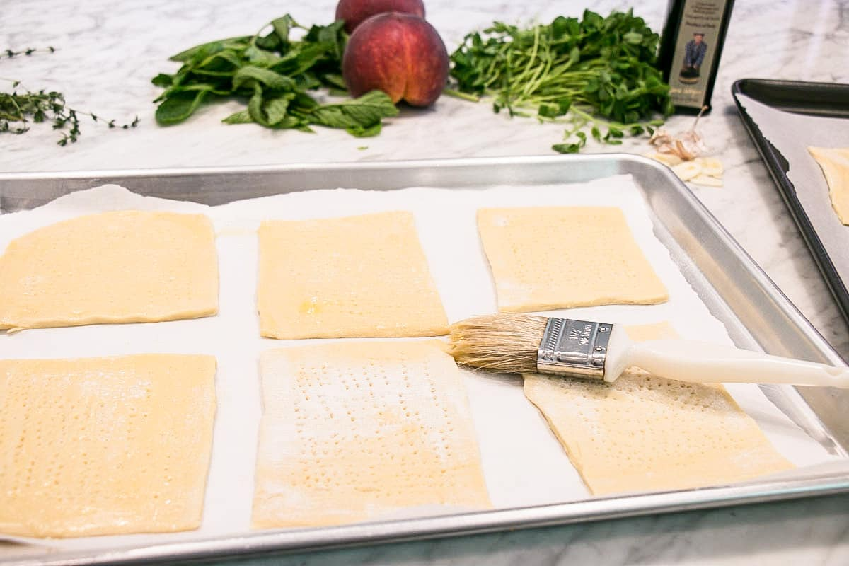 Prep of puff pastry