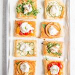 Puff Pastry Appetizers on a baking tray.