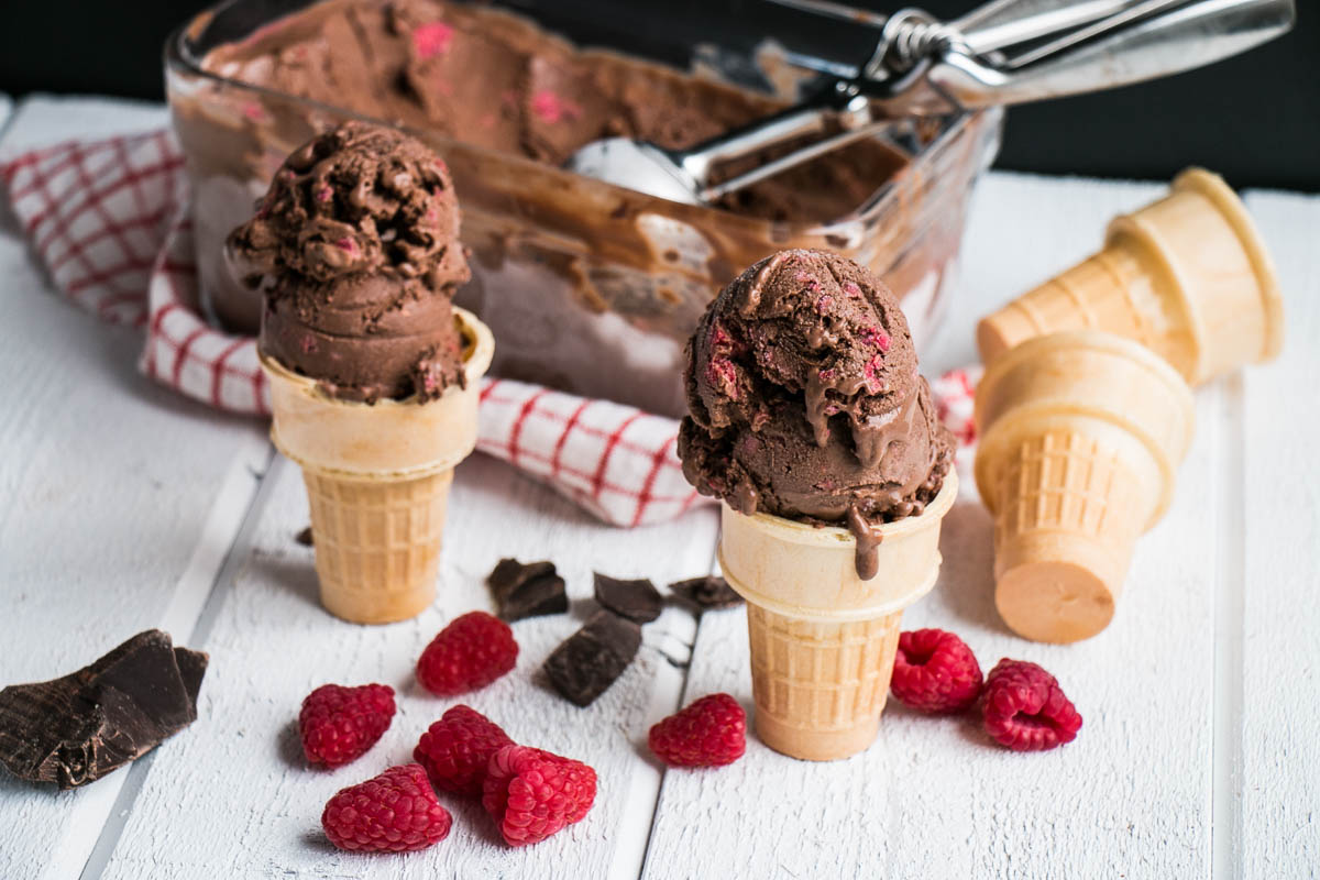 Dark Chocolate Raspberry Ice Cream My Kitchen Love