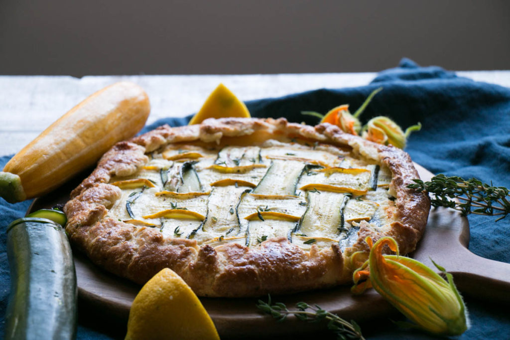 Zucchini and Thyme Galette | My Kitchen Love