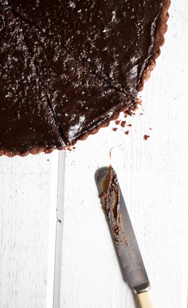 Cookbook Club - Salted Chocolate Caramel Tart | My Kitchen Love