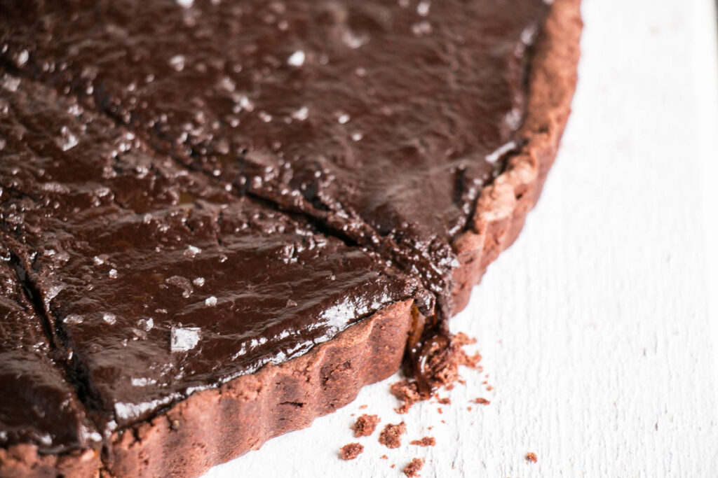 Cookbook Club – The New Easy Salted Chocolate Caramel Tart